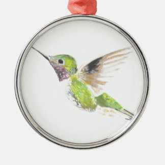 Kolibri Silbernes Ornament