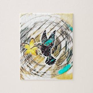 Kolibri-Silhouette Puzzle