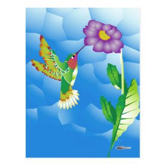 Kolibri:  Stilisiert Postkarte