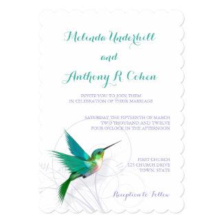 Kolibri-Strudel-12x18, das Einladung Wedding ist