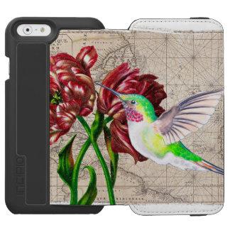Kolibri-Tulpe-Karte Incipio Watson™ iPhone 6 Geldbörsen Hülle