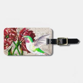 Kolibri-Tulpe-Karte Kofferanhänger