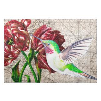 Kolibri-Tulpe-Karte Tischset
