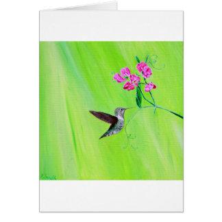 Kolibri u. süße Erbsen Karte