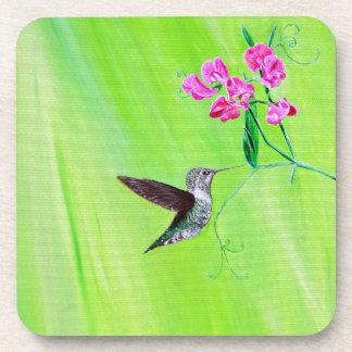 Kolibri u. süße Erbsen Untersetzer