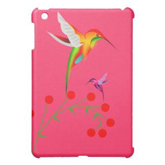 Kolibri-und Beeren-Speck iPad Fallrosa