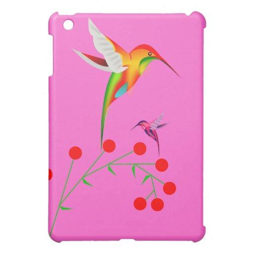 Kolibri-und Beeren-Speck iPad Fallrosa iPad Mini Cover