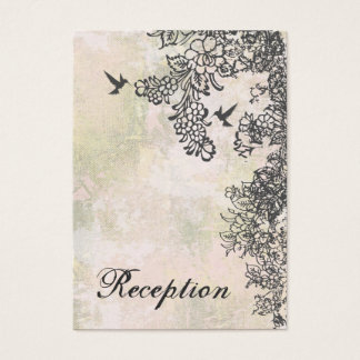 Kolibri und Blumen, die Empfangs-Karte Wedding Visitenkarte