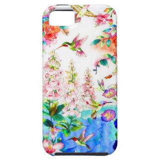 Kolibri und Blumen-Landschaft iPhone 5 Etui