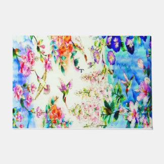 Kolibri und Blumen-Landschaft Türmatte