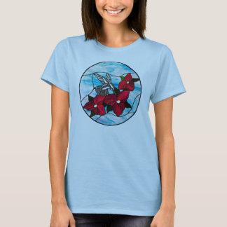 Kolibri und Blumen-T - Shirt