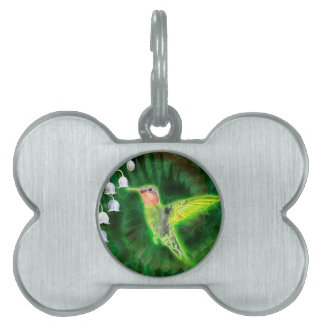 Kolibri-und Lilien-Fraktal Tiermarke