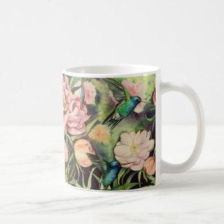 Kolibri und Pfingstrosen-Tasse