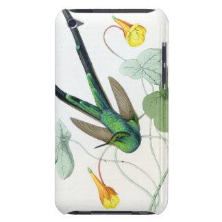 Kolibri-Vogel-Blumen-Blumentier-Tiere Barely There iPod Case