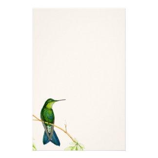 Kolibri-Vogel-Blumen-Blumentier-Tiere Bedrucktes Büropapier