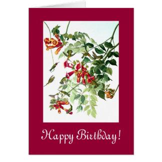 Kolibri-Vogel-Blumen-Blumentier-Tiere Karte