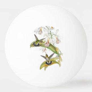 Kolibri-Vogel-Blumen-Blumentier-Tiere Tischtennis Ball