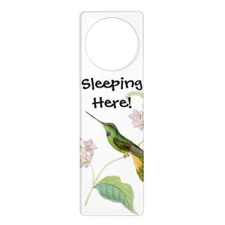 Kolibri-Vogel-Blumen-Blumentier-Tiere Türanhänger