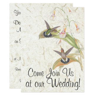 Kolibri-Vogel-Blumen, die Einladung Wedding sind