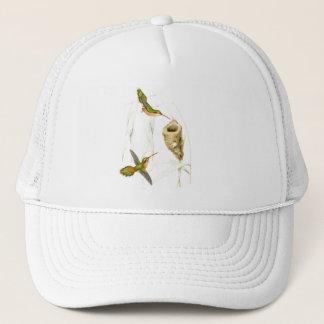 Kolibri-Vogel-Blumen-Tier-Tiere mit Blumen Truckerkappe