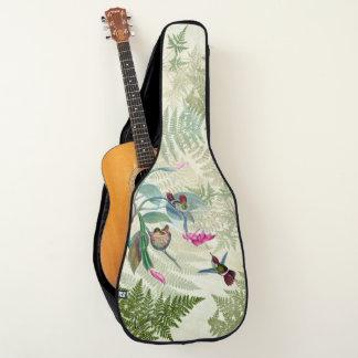 Kolibri-Vogel-Farn-Blumen-weicher Gitarrentasche