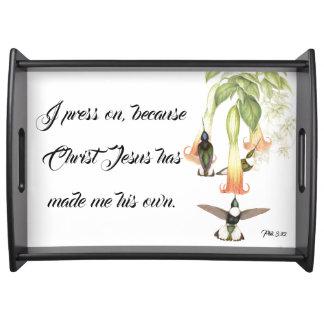 Kolibri-Vogel-Jesus-Bibel-Presse auf Tablett