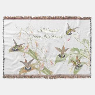 Kolibri-Vogel-Tier-Blumen BlumenAnumals Decke