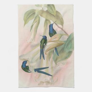 Kolibri-Vogel-Tier-Blumen BlumenAnumals Geschirrtuch