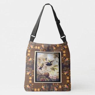 Kolibri-Vogel-Tier-Blumen Heade Taschen-Tasche Tragetaschen Mit Langen Trägern