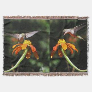 Kolibri-Vogel-Tier-Blumensonnenblume-Blume Decke