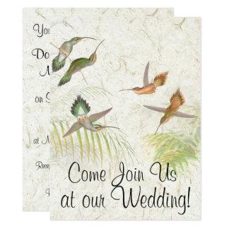 Kolibri-Vogel-Tier-Hochzeits-Einladung 16,5 X 22,2 Cm Einladungskarte