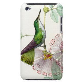 Kolibri-Vogel-Tier-Tier-Blumen mit Blumen iPod Case-Mate Hüllen