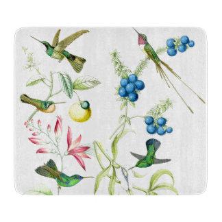 Kolibri-Vogel-Tier-Tier-Blumen mit Blumen Schneidebrett