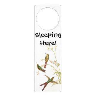 Kolibri-Vogel-Tier-Tier-Blumen mit Blumen Türanhänger