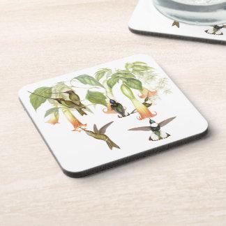 Kolibri-Vogel-Tier-Tier-Blumen-Untersetzer Untersetzer