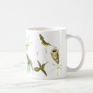 Kolibri-Vogel-Tier-Tier-BlumenTasse Kaffeetasse