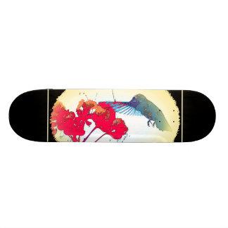 Kolibri-Vogel-Tier-Tier mit Blumen Skateboarddeck