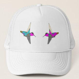Kolibri-Vogel-Tier-Tier mit Blumen Truckerkappe