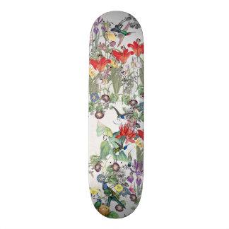 Kolibri-Vogel-Tier-TierblumenSkateboard 20,1 Cm Skateboard Deck