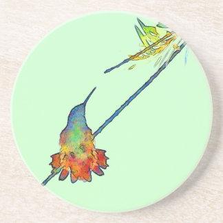 Kolibri-Vogel-Tierwild lebende tiere mit Blumen Getränkeuntersetzer