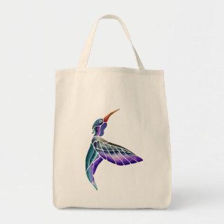 Kolibriabstrakter Watercolor Tragetasche