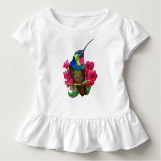 Kolibrihand, die helle Illustration zeichnet. Neon Kleinkind T-shirt