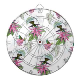 Kolibrimuster Dartscheibe