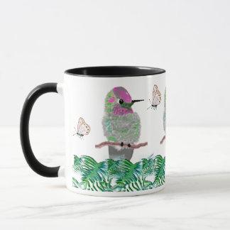 Kolibris und Schmetterlinge Tasse