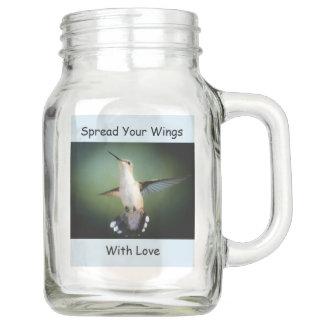 Kolibris verbreiteten Ihr Flügel-Weckglas Einmachglas