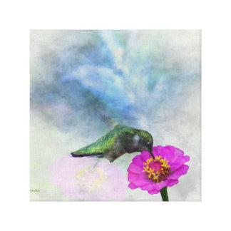 Kolibriwatercolor-Leinwand Leinwanddruck