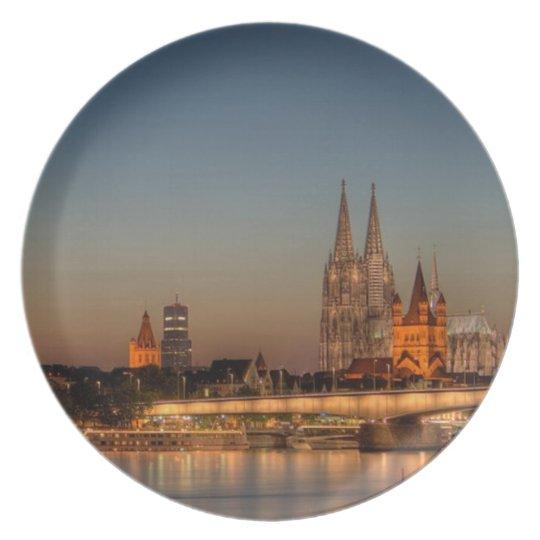 Köln als Melaminteller