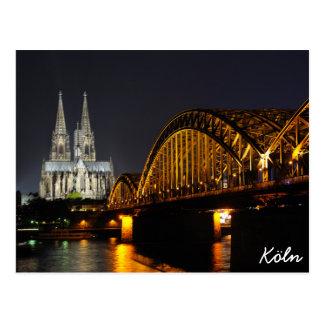 Köln, Deutschland Postkarte