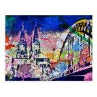 Köln ist bunt postkarte