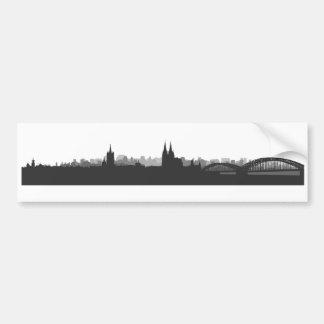 Köln Skyline Aufkleber Autoaufkleber